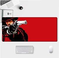 Zenghh マウスパッド付き特殊表面拡張ドルレッドデザインIアンチスリップラバーベースI黒ゲーミングマウスマットIフィルムA握りは、スピードと精度Iステッチのエッジを向上させます (Color : 5)