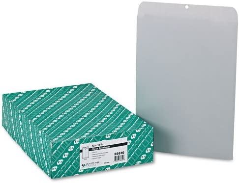 Quality Park : Clasp Envelope Seasonal Ranking TOP3 Wrap Introduction 12 x 2 Gray 28lb Executive 15 1