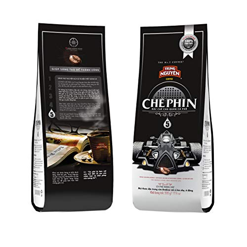 TRUNG NGUYÊN LEGEND Coffee for Filter 5 - Premium Light Roasted and Ground Coffee, Strong Vietnamese Energy Coffee (18oz/Bag)