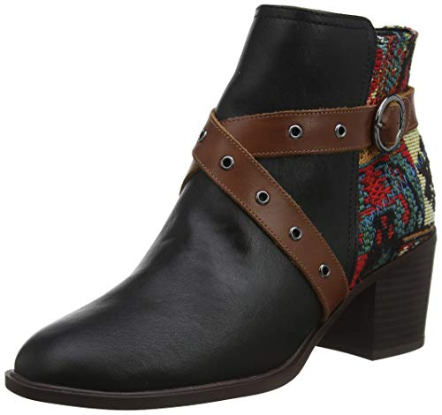 Desigual Shoes Alaska Tapestry, Stivaletti Donna, Nero (Black 2000), 39 EU