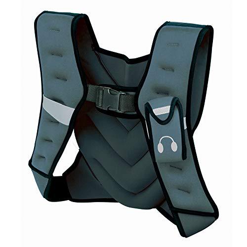 Tunturi Gewichtsweste zum Laufen, Unisex Weste mit 5 kg Gewicht, verstellbar für Sport