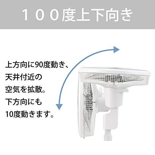 コイズミ扇風機DCモーターリモコン付き風量24段階温度センサータイマー付きホワイトKLF-3591/W