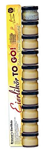 Braunes Eierlikör TO GO | Sonnenseite | 10 x 25ml zum Probieren! | Klötenköm, Likör aus Eiern, Eierschnaps, Advocaat, Avocat, Advocat, Likör mit Eizusatz, (79,96 / 1l) (1er Pack/ToGo Stange)