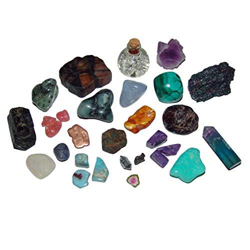 24 Edelsteine und Mineralien Kleiner Besonderheiten f. Adventskalender z.b. Aquamarin Saphir Smaragd Larimar Bernstein Granat u.v.a.
