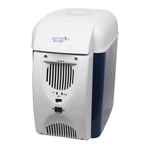 Cqq Auto Kühlschrank 7.5L 12V DC 220V AC-Kühlung Heizung Kühlschrank Kühlschrank Mini-Kühlschrank Kleine Startseite Mikro-Kühlschrank Auto Dual-Use-Kühlschrank Externe Größe: 29 * 28 * 17cm