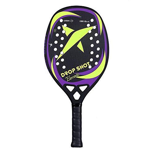 DROP SHOT Elemento BT Pala Beach Tenis, Unisex Adulto, Naranja, 330-360 Gr