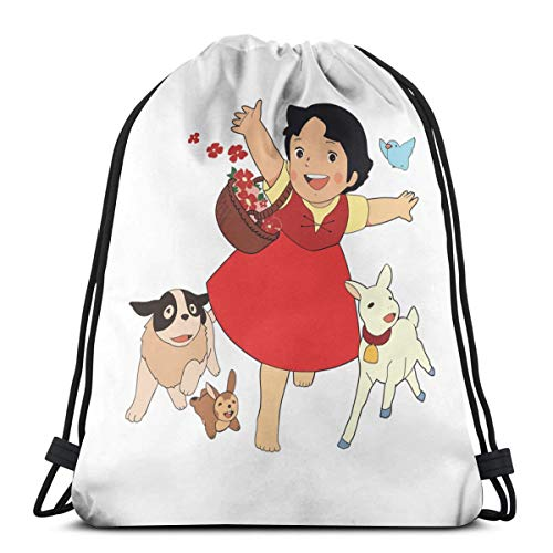 Yasia Heidi, The Girl From The Alps Fitted Scoop Drawstring Backpack Sport Bag Gym Sack
