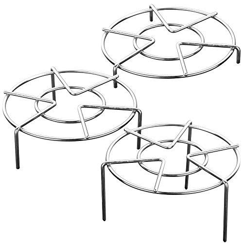 SourceTon 3er-Set, Edelstahl-Untersetzer, 3 Größen, strapazierfähiger Schnellkochtopf, Dampfrost, Dämpfgitter, Topfpfanne, Kochständer, 3 cm, 5,1 cm, 7,1 cm