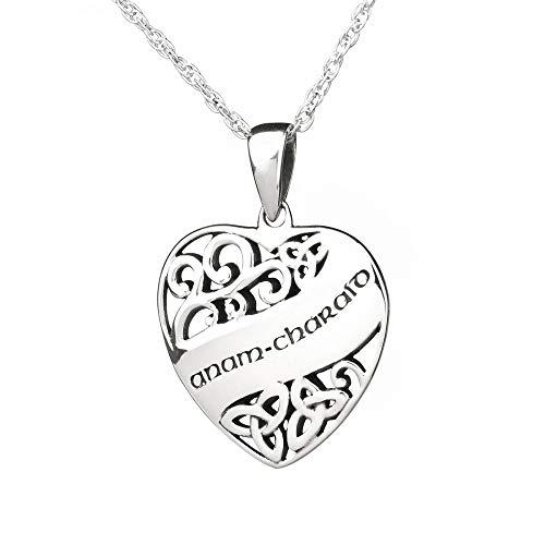 Anam Charaid (gälisch: Seelenverwandte) - Keltische Herz Kette aus Schottland