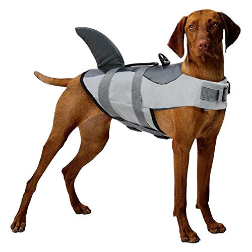 CAISYE Dog Life Jackets Pet Floatation Vest Puppy Swimsuit Adjustable Dog Life Jacket for Swimming, with Handles for Easy Rescue,XXL