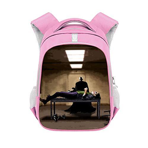 CJIUDI Character Cartoon Backpack,Student Backpack,Durable Unisex Rucksack,Large-Capacity Zipper Bag,with Headphone Jack,Unisex School Bag,Suitable for 15.6-Inch Laptops,Pink 14