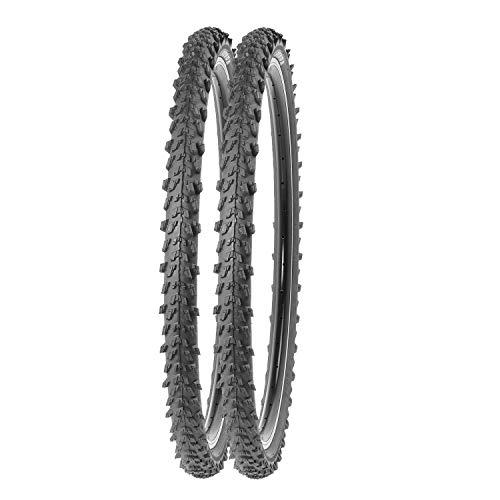 P4B   2X 24 Zoll Fahrradreifen   Sehr guter Grip in Allen Situationen   Hohe Laufruhe   24 x 1.95   50-507   Für Mountainbike   In Schwarz