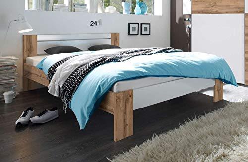 Avanti Trendstore - Pinto - Französisches Bett mit Matratze und Lattenrost inklusive, erhältlich, Maße: BHT 145x68x204 cm