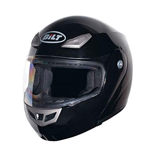 BiLT Demon Men's Motorcycle Helmet, Black, SM