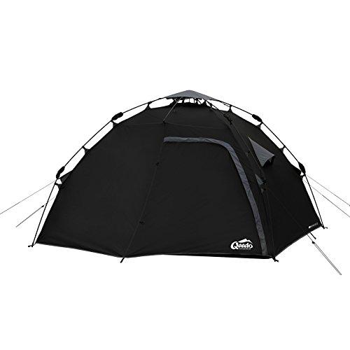 Qeedo Quick Maple 4 man Camping Dome Tent - black