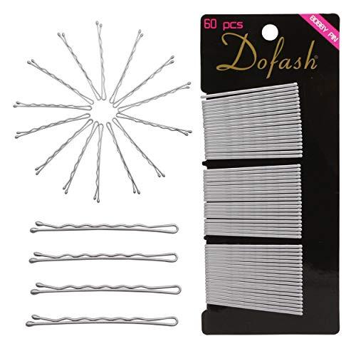 Dofash 60 Stück 2IN/5CM Wellenform Bobby Pins Silber Haarklammern Haarnadeln Klassische Haarzusätze für Damen Mädchen Dicke Haare (Silber)