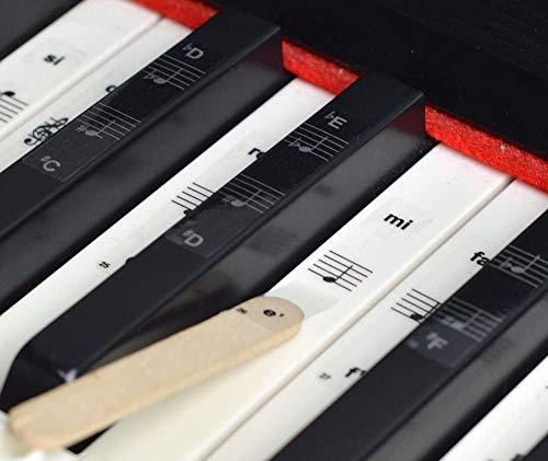 ROLLIN pegatinas para teclado piano de cola piano digital piano electrico piano 88 teclas   pegatinas notas musicales para principiantes   aprender las partituras piano facil