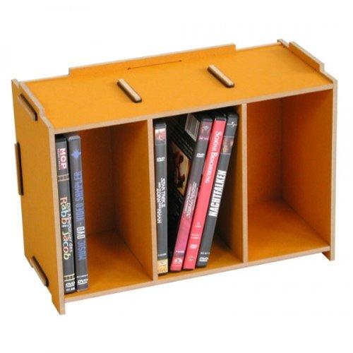 Werkhaus Medienbox DVD (stapelbar), goldgelb, 1150 g