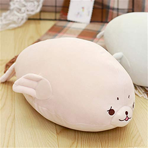 Ranoff Soft Down Cotton Seal Plush Toy Sleeping Pillow Doll Comforting Doll Kids Toys Intelligence Development Brain Teaser Toys (Pink)
