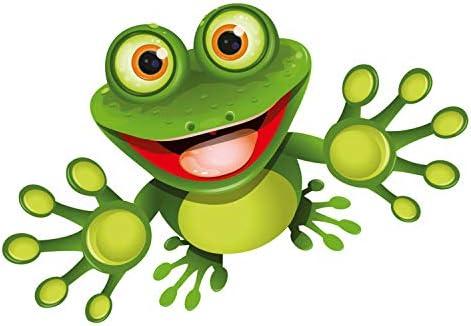 Younikat Sticker Funny Frosch I 15 Cm I Für Laptop Koffer Roller Kühlschrank Tür Mülltonne Badezimmer Als Auto Aufkleber I Lustig Cool Wetterfest I Kfz 399 Auto