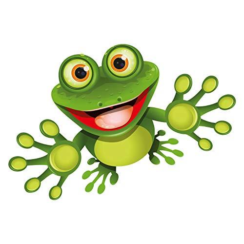 younikat Sticker Funny Frosch I 10 cm I für Laptop Koffer Roller Kühlschrank Tür Mülltonne Badezimmer als Auto-Aufkleber I lustig cool wetterfest I kfz_092
