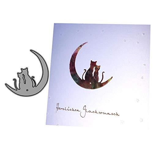 Katten met de maan metalen snijden Dies Stencils voor DIY Scrapbooking/Foto Album Decoratieve stempel Album Embossing DIY Card