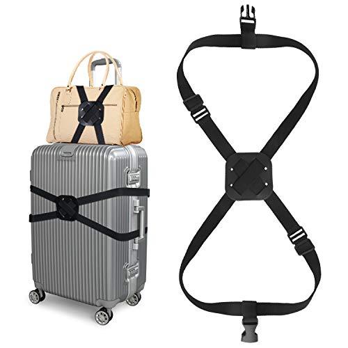 スーツケースベルト バッグとめるベルト ずり落ち防止 ゴム 調整可能 キャリーケース ベルト 軽量 持ち便利 ラゲッジベルト 旅行 出張 ラゲージベルト