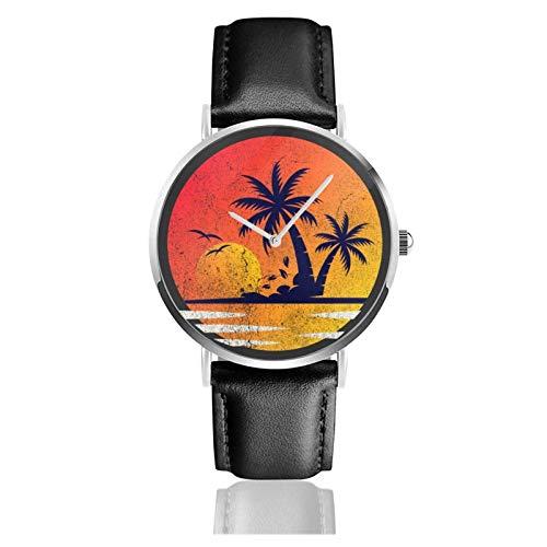 Relojes Anolog Negocio Cuarzo Cuero de PU Amable Relojes de Pulsera Wrist Watches Hola Vacaciones de Verano