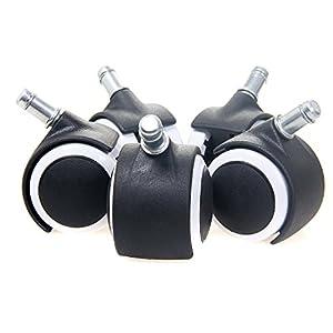 TUKA 5X Juego Universal de Ruedas para Suelos Duros, con Freno de Seguridad Externa. 5 Piezas, Ruedas para sillas de…