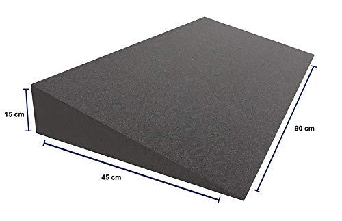 Dibapur® Keilkissen Matratzen (Ohne Bezug) Matratzenkeil Matratzenerhöhung Hochlagerungskeil fürs Bett ((B 90 x T 45 x H 15 / 1cm))
