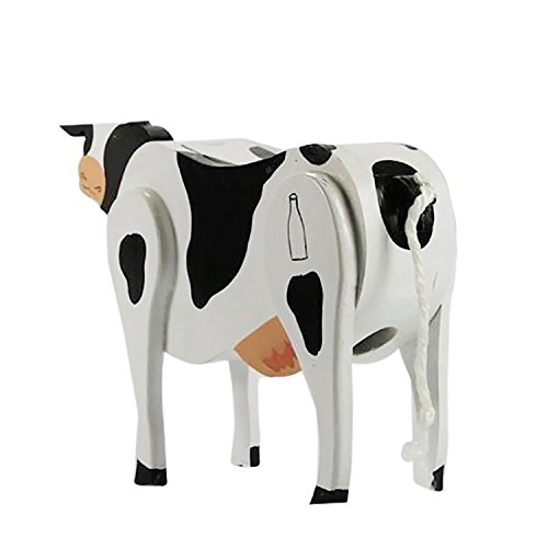 Scaasis Ms. Cow Wooden Candy Dispenser Funny Toy - Poops Candy!