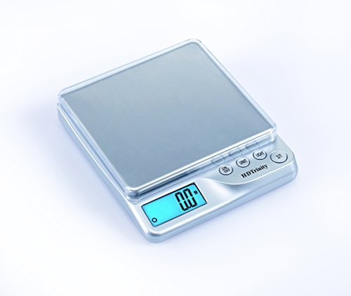 Electronic Pocket Scale 500g(320dwt/17.5oz/16ozt) Capacity for Jewelry, Coins, Kitchen, Hobby, Postage and more! (Silver Color)