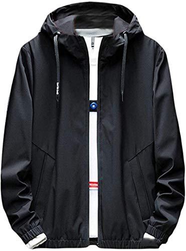 Men Bomber Jacket Coat Hip Hop Hooded Jackets Slim Fit Outwear