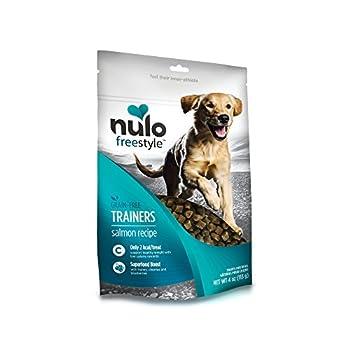 Nulo Puppy & Adult Freestyle Trainers Dog Treats  Healthy Gluten Free Low Calorie Grain Free Dog Training Rewards - Salmon Recipe - 4 Oz Bag