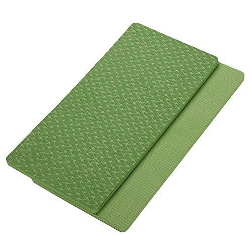Bebliss, tappetino di supporto piatto per yoga, fitness, gomito, ginocchio, polso, rotondo, quadrato, antiscivolo, 2 pezzi, BG