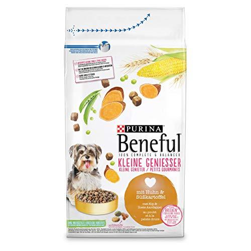 PURINA BENEFUL Kleine Genießer Hundefutter trocken für kleine Rassen, mit Huhn, 6er Pack (6 x 1,4kg)