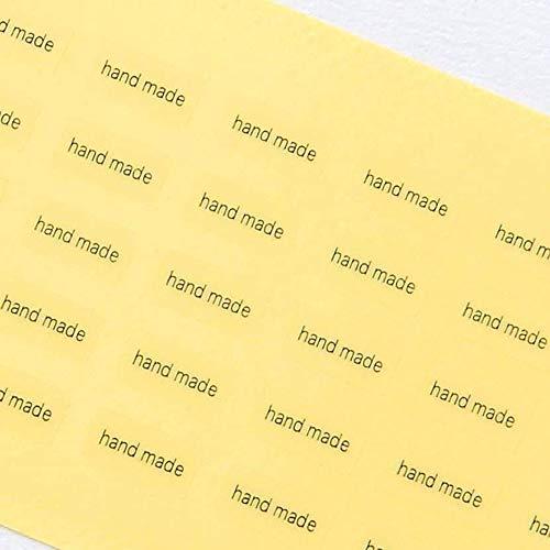 台紙用シール 10×5mm 日本製 アクセサリー台紙用 (hand made・透明, 250枚)