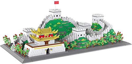 LNLJ Juego de 6200 minibloques de diamantes de imitación para niños, diseño de la arquitectura de los tacos chinos
