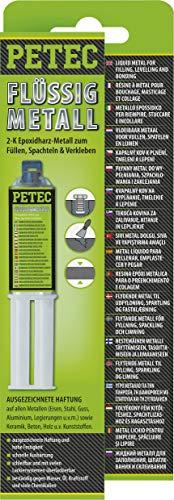 Petec 97425 Flüssigmetal Metallspachtel Spachtelmasse 25 ml