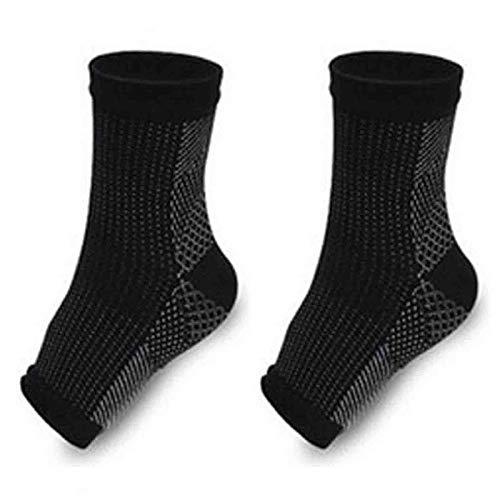 Dr Sock Soothers Chaussette de soutien anti-fatigue à la compression pour les pieds et la compression, 3 paires (S/M, 3 Pair Black)