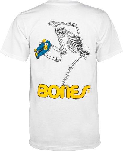 Powell Peralta Skateboard Skelett T-Shirt Medium weiß