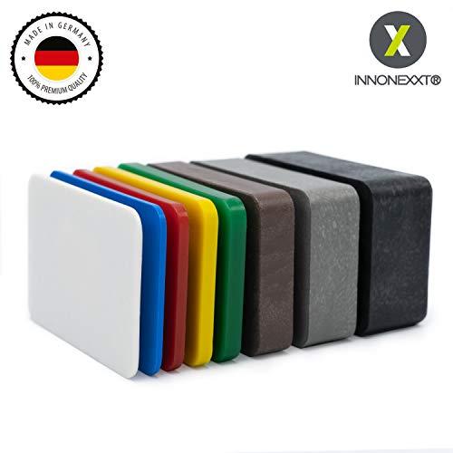 INNONEXXT® Premium Unterlegplatten | 60 x 40 mm, 160 Stück | Abstandshalter, Plättchen aus Kunststoff | Tragfähigkeit bis 16 t | Set: 1.5, 2, 3, 4, 5, 10, 15, 20 mm