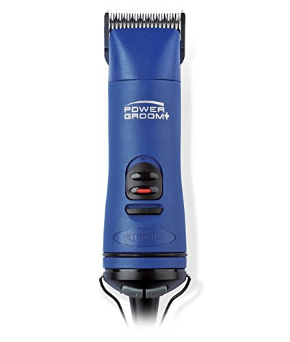 Andis Power Groom+ 5-Speed Detachable Blade Clipper, Professional Animal Grooming, Blue, AGRV (63360)