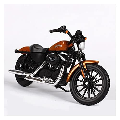 Boutique 1:18 para HA┐RLEY 2014 Sportster Iron 883 Motocicleta Modelo Metal Juguetes para Niños Regalo De Cumpleaños Colección De Juguetes (Color : Brown)