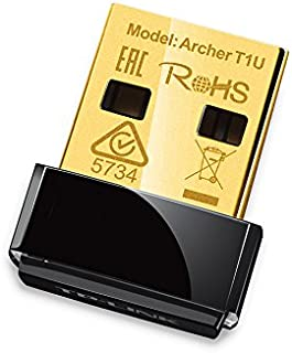 TP-Link Archer T1U AC450 Nano USB Wireless WiFi Network Adapter, Works with Windows and Mac OS, 5GHz Only.