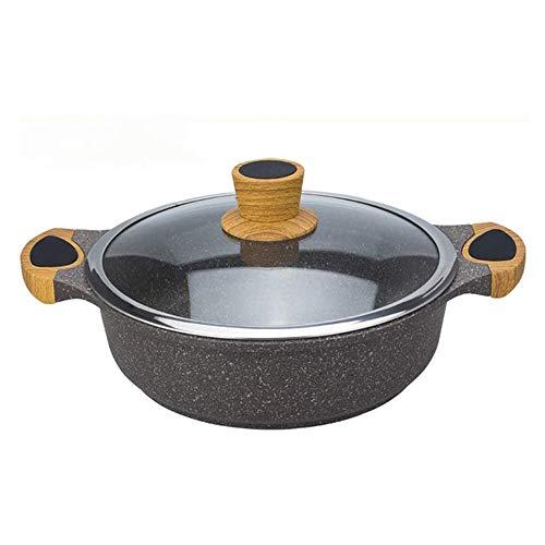 JIANGPENG Maifan Stone Soeppan Antiaanbak-braadpan commerciële Hot Pot Drie saus-eenpot pot pot gas inductiekookstel algemeen Hot Pot restaurant speciaal