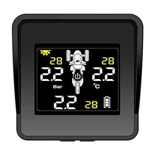 Dasorende Sistema de Monitoreo de PresióN de NeumáTicos InaláMbrico Solar Motocicleta TPMS Monitor de PresióN de NeumáTicos Pantalla LCD 3 Sensores Externos