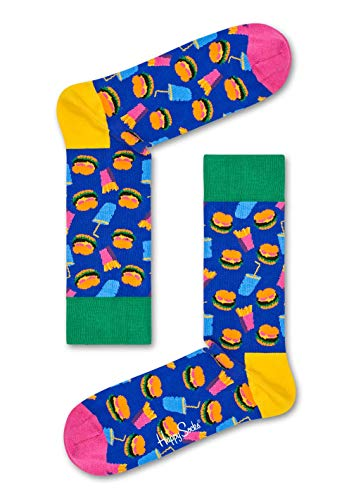 Happy Socks Unisex Hamburger Sock, Blau (Navy 6000, 41-46