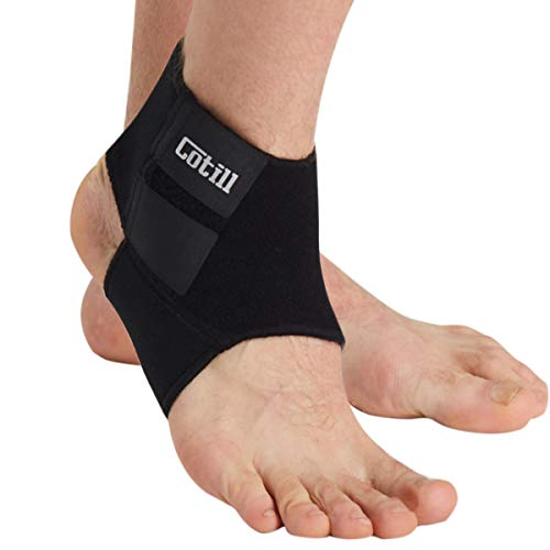 Cotill Ankle Support, Adjustable Ankle Brace Multi-Purpose and Breathable Compression - Ankle Wrap for Sports, Running, Walking, Joint Pain, Sprains, Arthritis etc (Small)