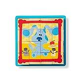 Melissa & Doug-Blue's Clues & You Rompecabezas de Cubo de Madera, Multicolor (33007)